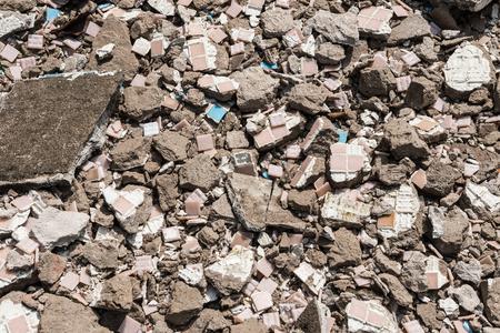 rubble: background of brick rubble debris
