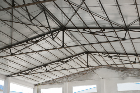architectural architectonic: roof of a factory building