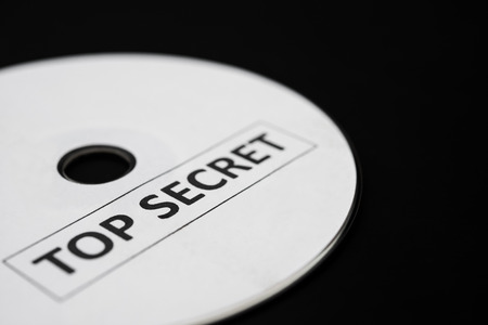top secret: compact disc with label of top secret Stock Photo