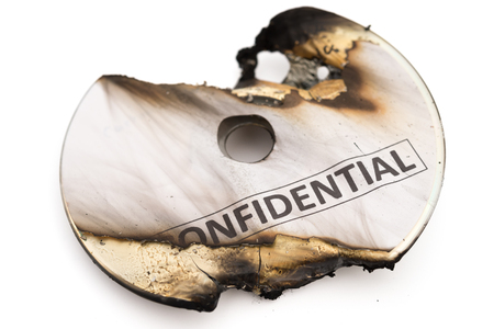 confide: burnt out confidential cd on white