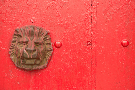 knocker: door knocker of  typical chinese palace gate