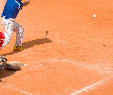 batter hit the ball