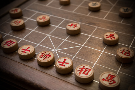 Chinese chess the chinese means King Advisors Elephants Rooks Knights Cannons Pawns
