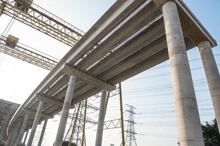 schlagbaum: concrete highway under construction