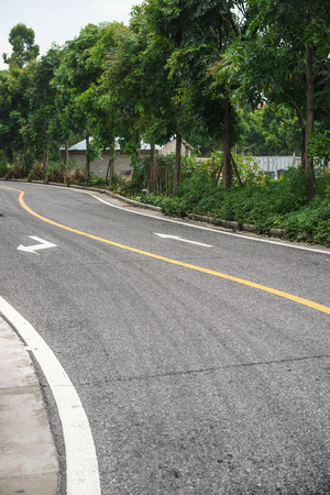 blacktop: curved blacktop with arrow signs