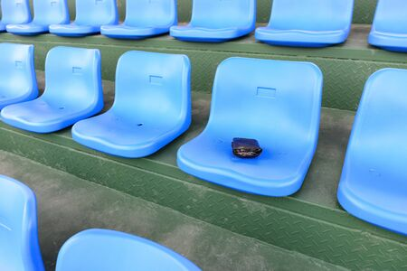 inattention: lost wallet on a stadium seat