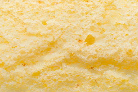 sponge cake close up as background and texture Stock Photo