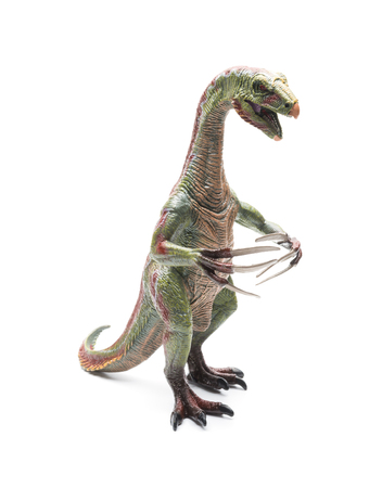 nothronychus toy on a white background