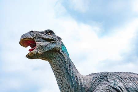 Psittacosaurus under blue sky Stock Photo