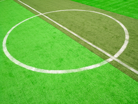 central circle of an indoor soccer field Stock Photo