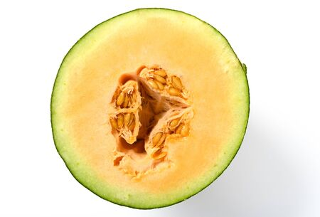 hami melon  on white background