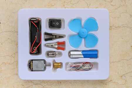 components for making up electric circuit for children to study