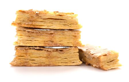 walnut puff pastry on a white background 版權商用圖片