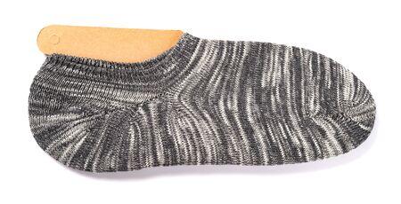 grey socks for men on a white background Banco de Imagens - 137797700
