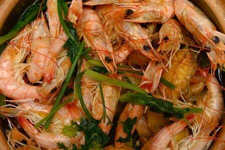fresh home made sea food close up