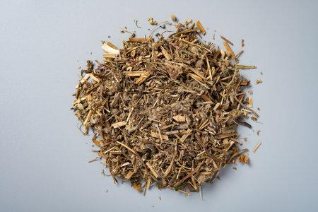 top view herb LaoGuanCao or Erodii Herba or Geranii Herba or Common Herons Bill Herb