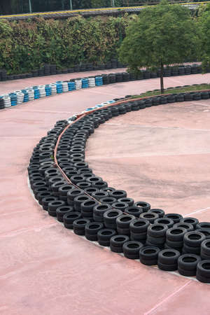 curved racetrack in the outdoor vertical composition 에디토리얼