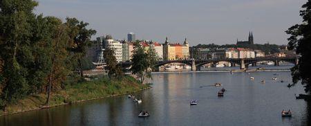 Vltava river,Prague Stock Photo