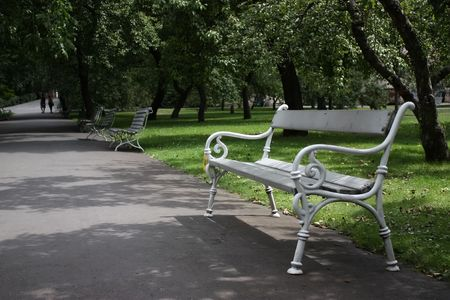 Benches in Prague