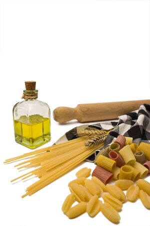 Variety of pasta. Stock Photo