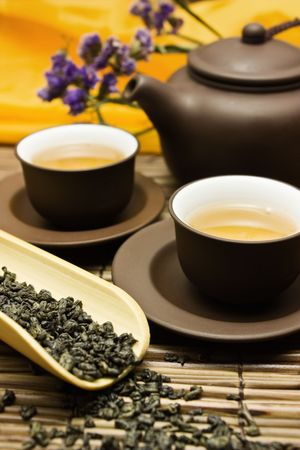 Asian tea set.