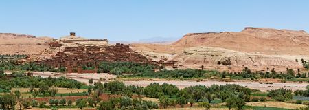 Panoramic view of Ait Ben Haddou, Morocco. Stock Photo