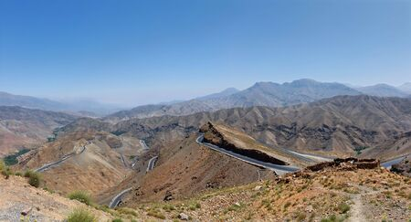 A panoramic view of the Atlas mountains, Morocco.
