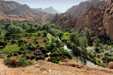 Rural landscape in the Atlas mountains, Morocco. Stock Photo