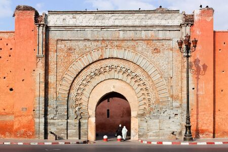 Bad Agnaou door, Marrakesh. Stock Photo