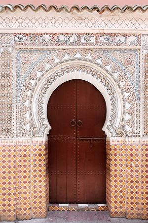 Moroccan door. photo