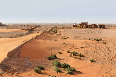 Abandoned village in the Sahara desert, Morocco.