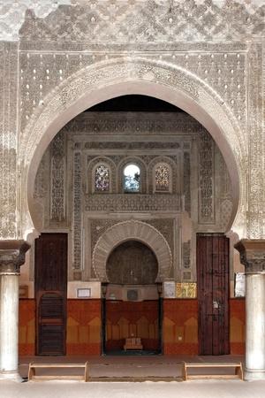 Interior of a Moroccan mosque.