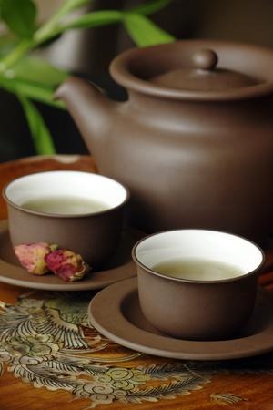 chinese teapot: Asian tea set.