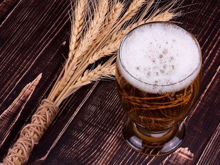 real ale: Glass of beer and ears