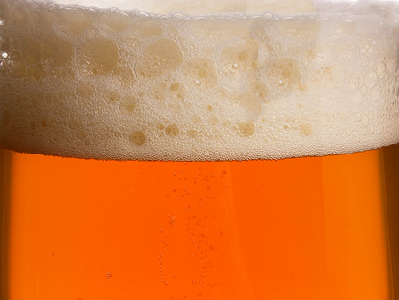 real ale: Glass of real ale with froth