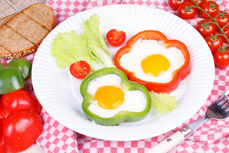 sunny side up: Fried eggs