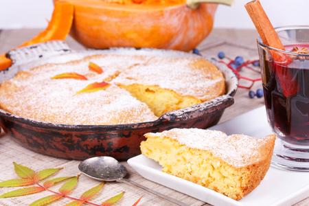 Homemade pumpkin cake Stock Photo