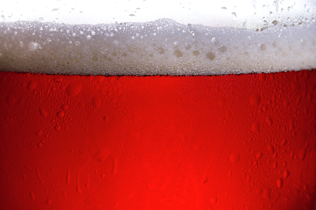 Glass of beer, close-up view