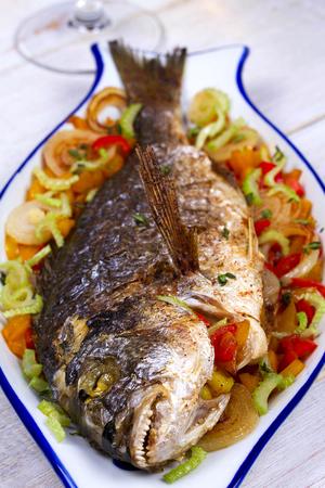 stuffed fish: Vegetables - stuffed fish