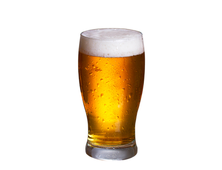 real ale: Beer isolated on white background