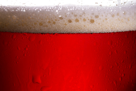 real ale: Beer close up studio photography in back light