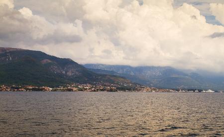 boka: Kotor bay, Boka Kotorska Landscape. Adriatic Sea, Montenegro, Europe