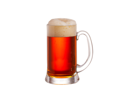 Beer isolated on white background. Ale Stock Photo