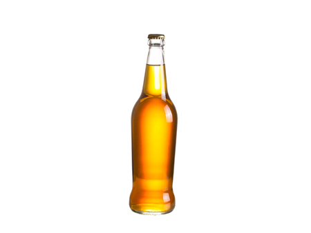 brewery: Bottle of cider, isolated on white background