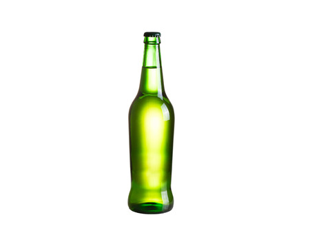 real ale: Bottle of cider, isolated on white background
