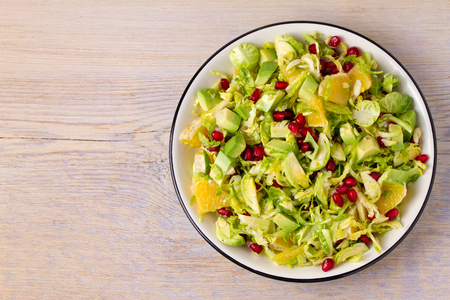 Refreshing Brussels Sprouts Pomegranate, Avocado, and Orange Salad