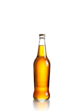 Cider bottle isolated on white background 版權商用圖片