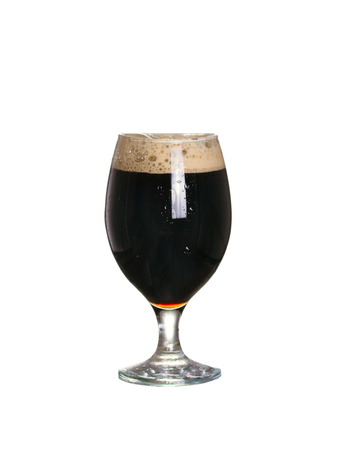 Glass of beer. Stout beer, isolated on white background