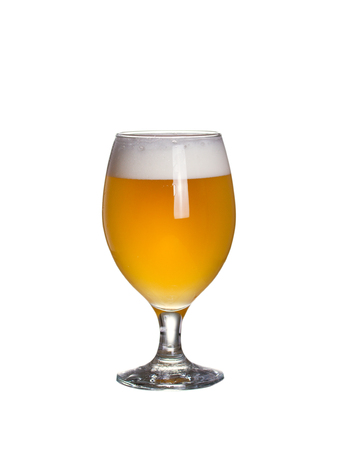 Glass of beer. Wheat beer, Weissbier or Witbier, isolated on white background Imagens - 124438027