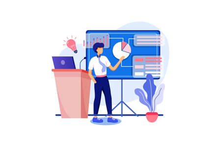 Business & Startup Vector Illustration concept. Can use for web banner, infographics, hero images. Flat illustration isolated on white background.